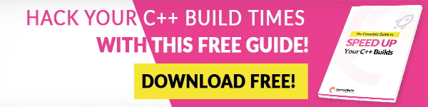 Hack your C++ build times with this free guide! Download free!