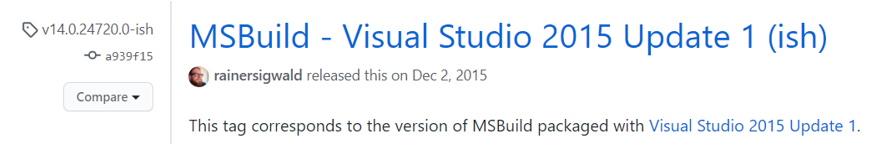 MSBuild_top open source build tools