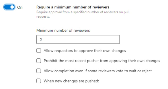 a. Require a minimum number of reviewers