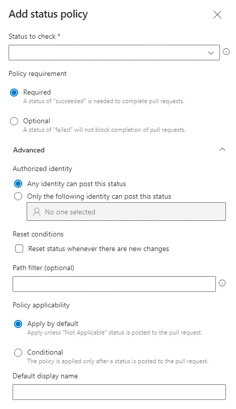 Add status policy