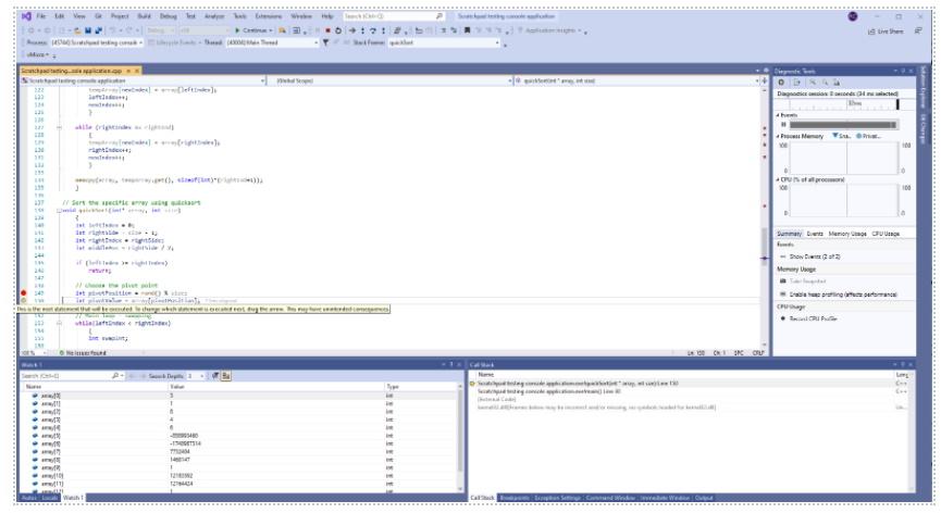 Full-screen debug mode
